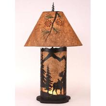 Large Moose Scene Panel With Night Light