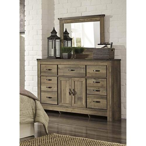 Full Size Bedroom Set: Full Size Storage Bed, Nightstand, Dresser & Mirror
