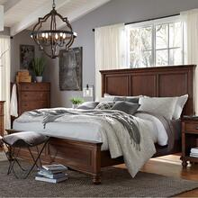 Queen Panel Bed Complete Oxford Whiskey Brown