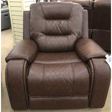 Klaussner Home Furnishings Hubble Power Recliner - Mika Brown