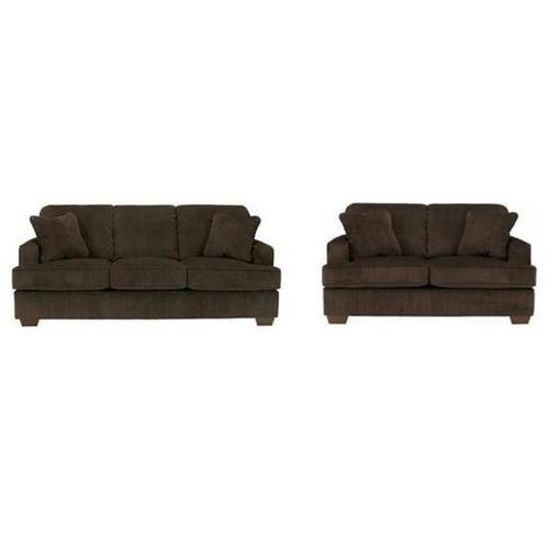 V-dub Furniture - 2 Piece Sofa & Love Seat Brown