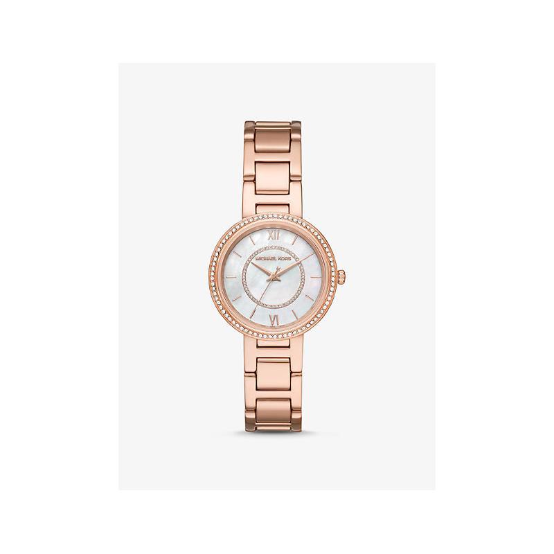 View Product - MICHAEL KORS Gabbi Pav Rose-Gold Watch