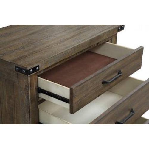 New Classic Furniture - Galleon Nightstand - Weathered Walnut