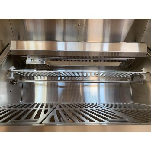 **30% OFF DISPLAY** Hestan 36'' Grill with Worktop & Storage, 2 Trellis Burners, 1 Infrared Burner & 1 Rotisserie - Pacific Fog