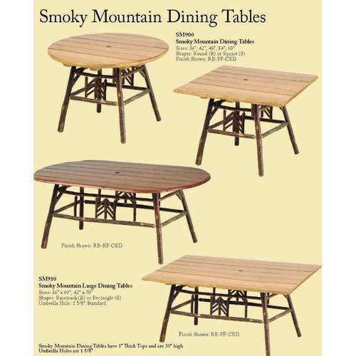 Smoky Mountain Dining Tables