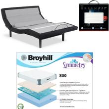 Leggett & Platt Prodigy Comfort Elite, Broyhill 800 Cool Gel Memory Foam Mattress, and set of Dreamfit Sheets