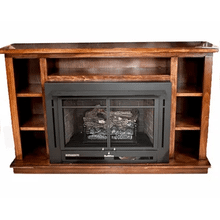 See Details - PRESTIGE BOOKCASE MANTEL WITH FIREBOX