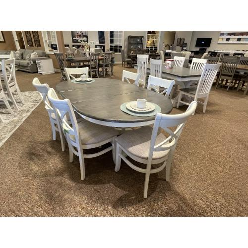 Farmhouse Dining with X Back Chairs