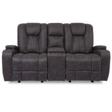 See Details - Aviator Granite Glider Loveseat with Console