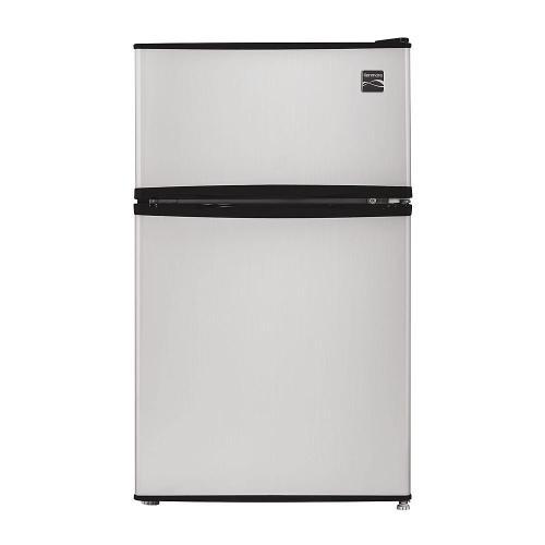 Kenmore - Kenmore 99033 3.2 cu. ft. 2-Door Compact Refrigerator - Metallic