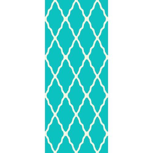 Persian Weaver - Deluxe Shag Trellis Turquoise 8x11 Rug