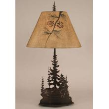 Iron Feather Tree Series w/ Cabin Table Lamp