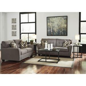 Tibbee Deluxe Living Room Set - 7pcs - Sofa, Accent Chair, Tables & Lamps