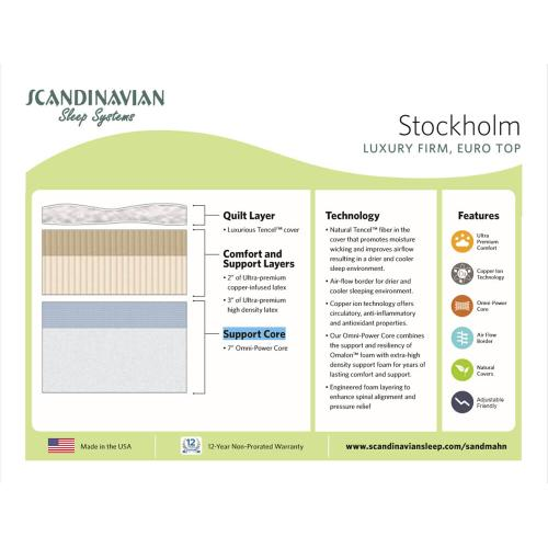 Scandinavian - Stockholm - Luxury Firm - Euro Top
