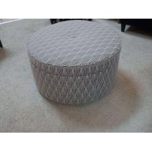 STRANDS CHARCOAL STORAGE OTTOMAN
