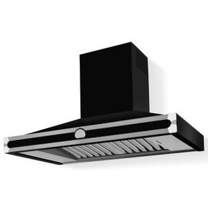 Lacornue Cornufe - Gloss Black Cornufe 110 Hood with Polished Chrome Accents
