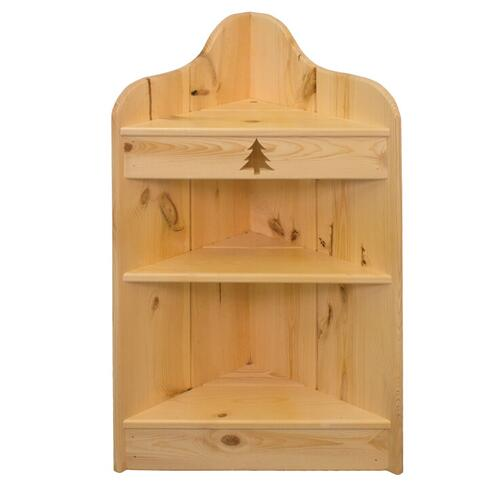 BW562  3' Corner Shelf with Tree Cutout