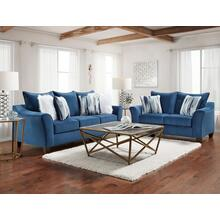 7703-VELN  Sofa and Loveseat - Velour Navy
