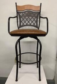 """Raphael"" Swivel Bar Stool with Arms"