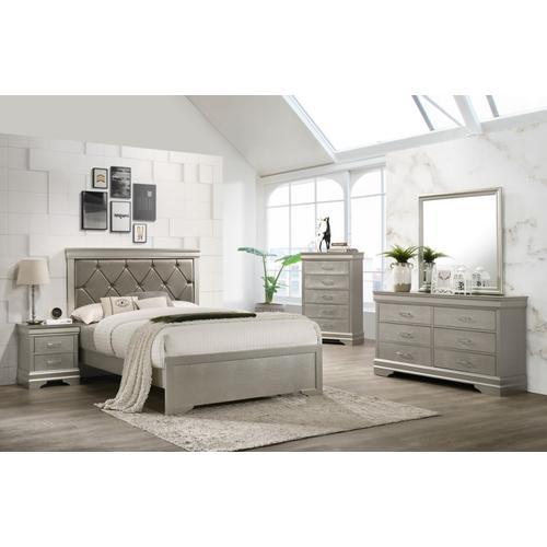 Crown Mark - 7 Piece Amalia Bedroom Group - King Size