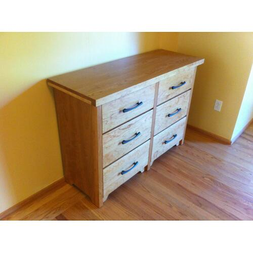 Shaker Six Drawer Dresser in Cherry Wood