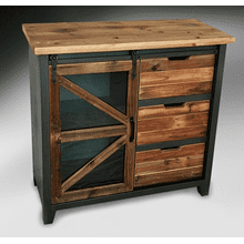See Details - RECLAIMED BLACK CHESTNUT ACCENT TABLE      (AFN203NS,53121)