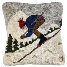 "18"" Downhill Skier Pillow"