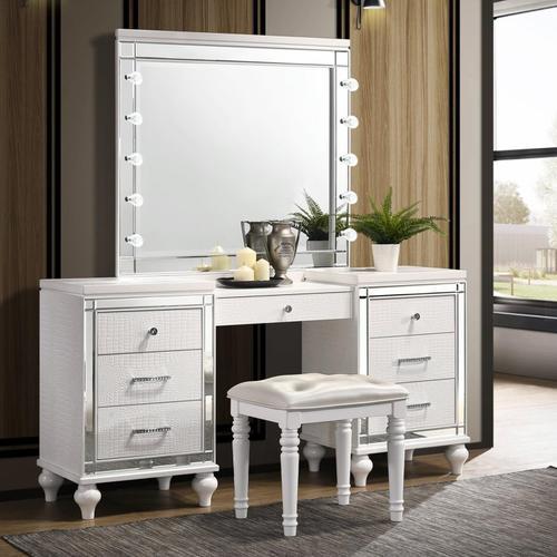 3pc White Vanity Set, Valentino