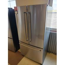 See Details - 20 cu. ft. 36-Inch Width Counter-Depth French Door Refrigerator with Interior Dispense - Stainless Steel
