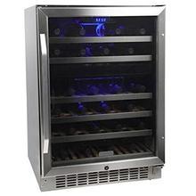 View Product - EDGESTAR 46 Bottle Dual Zone Wine Cooler