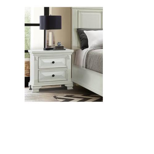 Elements - Calloway Queen 8 Piece White Bedroom Group