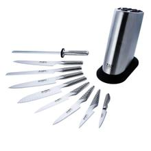 Global Classic Stainless Steel 10 Piece Knife Block Set