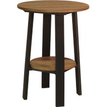 """Deluxe End Table 28"""" Premium Antique Mahogany and Black"""