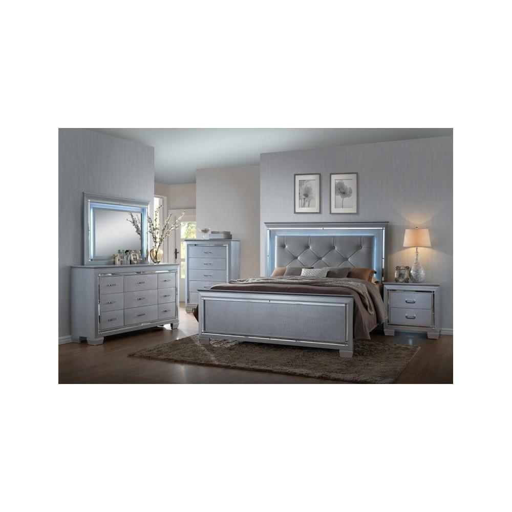 Lillian LED 4 Pc Eastern King Bed Set