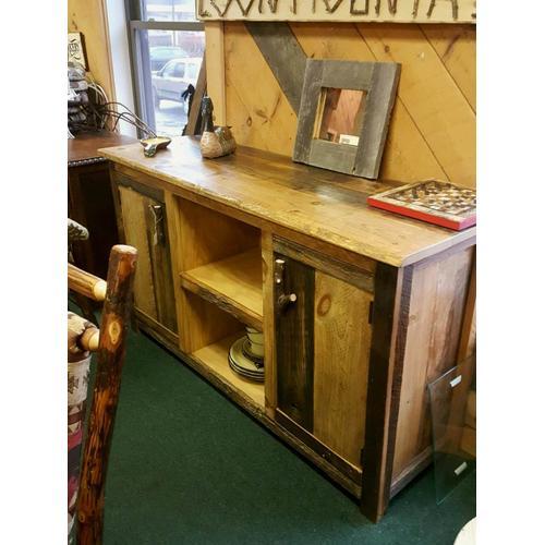 Rough Sawn Barnwood Cabinet