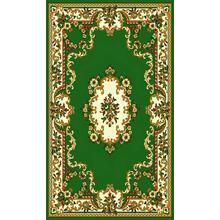 Medium - Taj Mahal 112 Hunter Green 5x8 Rug