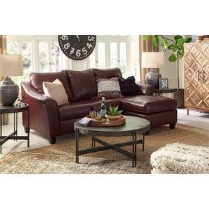 Fortney Genuine Leather Reversible Sofa Chaise