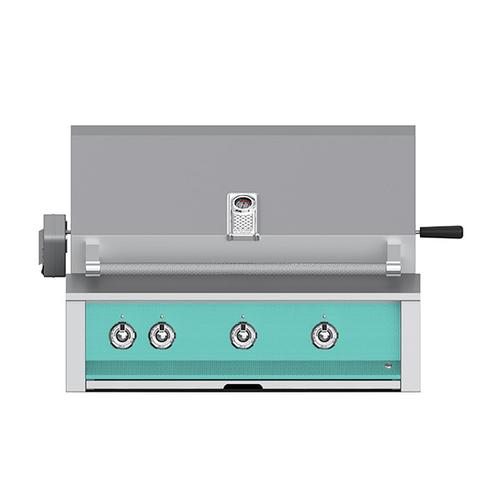 """Product Image - Aspire By Hestan 36"""" Built-In U-Burner, Sear and Rotisserie Grill NG Turquoise"""