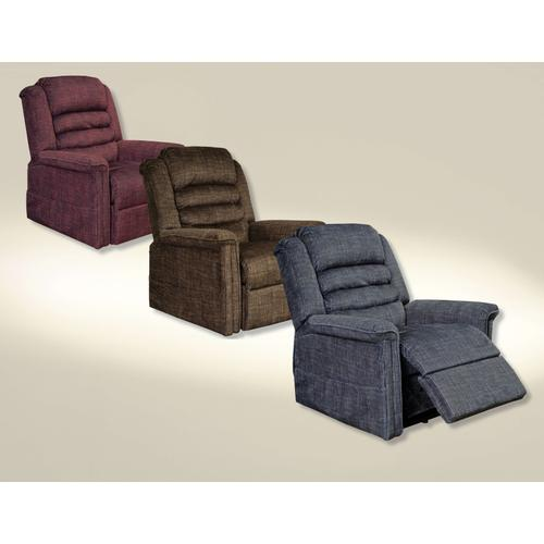 Soother Power Lift Reclining Chair in Chocolate Fabric