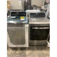 4.8 cu. ft. Mega Capacity Smart wi-fi Enabled Top Load Washer & 7.3 cu. ft. Ultra Large Capacity Smart Top Load Electric Dryer **OPEN BOX ITEM** West Des Moines Location