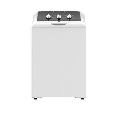This GE top load washer features heavy-duty agitator, deep clean cycle, water level control and 7 wash programs. Width27 inch(es) / 68.58 cm, Height 44 inch(es) / 111.76 cm,  Depth 27 inch(es) / 68.58 cm.  Limited 5-Year Parts and Labor  Limited 10-Year Parts on Motor  Limited 25-Year Parts on Wash Basket