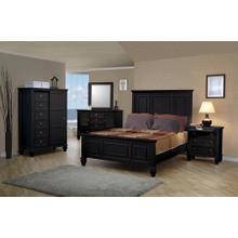 Sandy Beach Black Queen Panel Bed