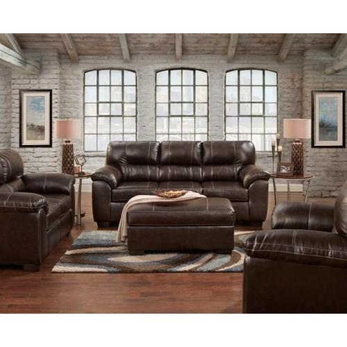 Product Image - 5603-AUSC  Sofa & Loveseat - Austin Chocolate (5601-AUSC Chair, 5605-AUSC Ottoman & 2450-AUSC Recliner)
