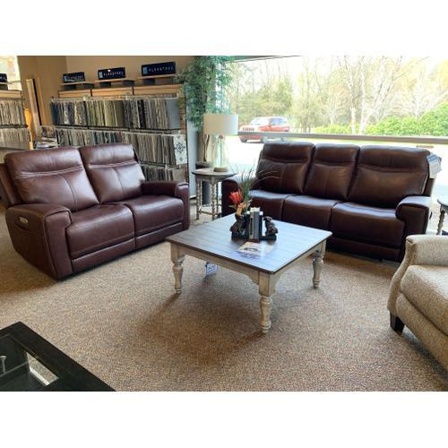 Bravo Power Reclining Leather Sofa & Loveseat