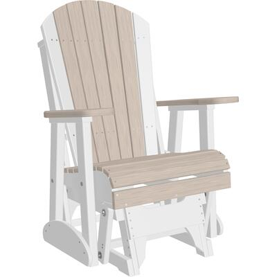 Adirondack Glider 2' Premium Birch and White