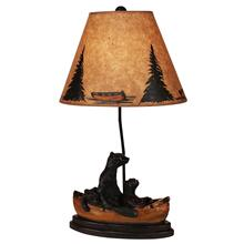 Kodiak/Honey Bear Family Canoe Table Lamp