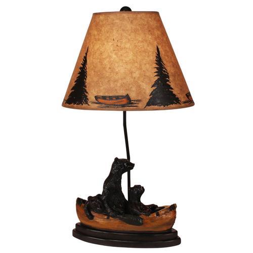 Coast Lamps - Kodiak/Honey Bear Family Canoe Table Lamp
