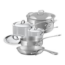 Mauviel M'Cook Stainless Steel Cookware Set 9 Pieces With Cast Stainless Steel Handles