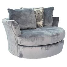 Groovy Smoke Swivel Accent Chair