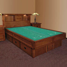 Mission Creek Waterbed With Bookcase Headboard & Casepieces Available in King and Queen